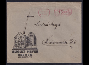 DR. Reklame-Brief, August Meyer, Bremen