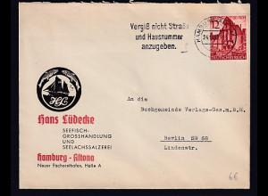 DR. Reklame-Brief, Fischgrosshandlung, Hans Lüdecke, Hamburg