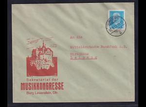 DR. Reklame-Brief, Sekretariat der Musikkongresse, Lüdwigstadt