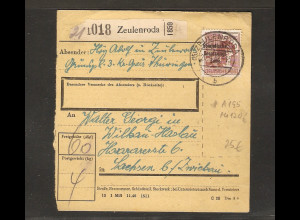 SBZ, Mi.-Nr. A 195 EF auf Paketkarte.