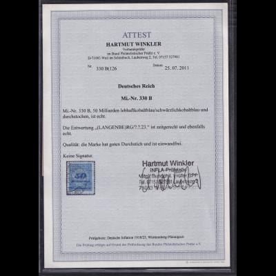 DR, Mi.-Nr. 330 B, gestempelt, FA. WinklerBPP.
