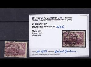 DR, Mi.-Nr. 115 d, gestempelt, KB. OechsnerBPP.