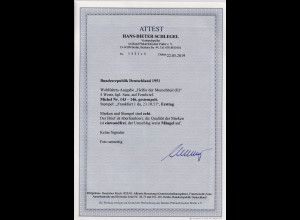 Bund , FDC, Mi.-Nr. 143 - 146, FA. SchlegelBPP.