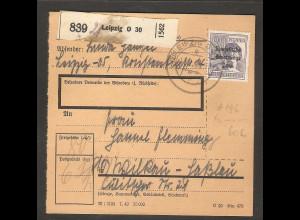 SBZ, Mi.-Nr. 196 EF auf Paketkarte.