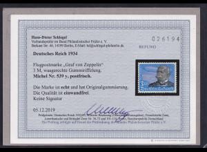 DR, Mi.-Nr. 539 y..postfrisch,Befund, SchlegelBPP