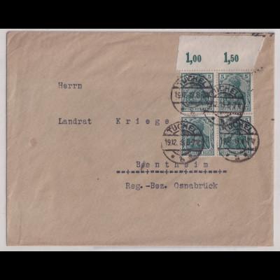 DR, Mi.-Nr.85 II e P OR,, auf Fern-Brief, FA, LantelmeBPP