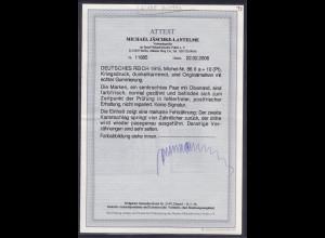 DR, Mi.-Nr.86 II a.mit Fehlzähnung, postfrisch,FA,Jäschke-LBPP