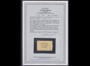 Deutsche Feldpost II.Weltkrieg Mi.-Nr. 15 Type I.ungebraucht,FA, ZirathBPP