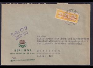 DDR.ZKD-Brief, EF. Mi.-Nr. Dienst-16 L