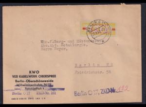 DDR.ZKD-Brief, EF. Mi.-Nr. Dienst-18 L
