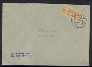 DDR.ZKD-Brief, EF. Mi.-Nr. Dienst-19 I L