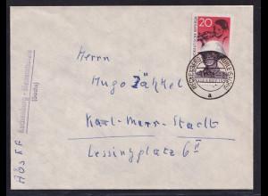DDR. Fern-Brief mit EF. Mi.-Nr. 662