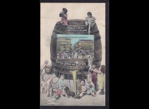 DR. Rohrpostkarte mit Germania-Marken 1908