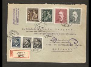 B&M., R-Ausland-Brief nach Holland, zensiert.