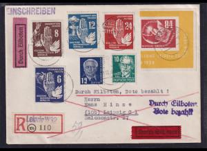 DDR. R-Eilbote-Orts-Brief mit EF. Mi.-Nr. 272 ua.