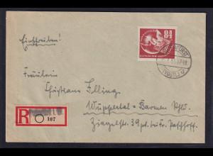 DDR. R-Fern-Brief mit EF. Mi.-Nr. 272