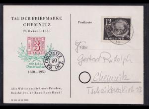 DDR. Ortskarte mit EF. Mi.-Nr. 271