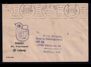 """DDR, Losungstempel """" FDJ, Berlin 1950....."""""""