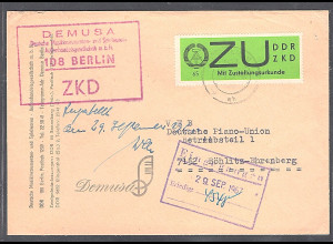 DDR.ZKD-Brief, EF. Mi.-Nr. E 2 x