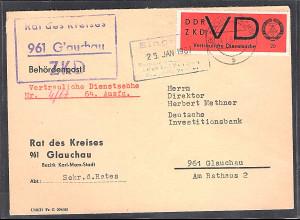 DDR.ZKD-Brief, EF. Mi.-Nr. VD 3y
