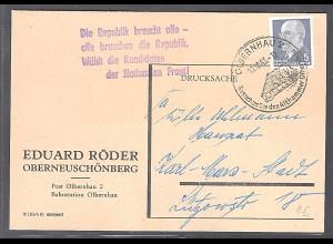 """DDR, Losungstempel """"Die Republik braucht alle- alle........."""""""