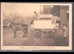 Ansichtskarten Berlin, Milchwagen der Meierei C. Bolle.