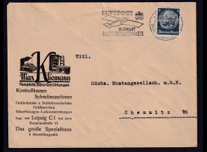 DR. Reklame-Brief, Kontrollkassen, Schreibmaschinen, Max Kliemann, Leipzig