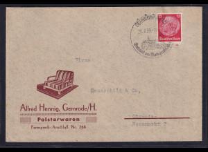 DR. Reklame-Brief, Polsterwaren, Alferd Hennig, Gernrode