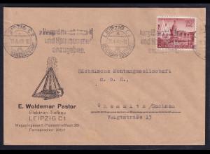 DR. Reklame-Brief, Elektron-tiefbau, E.Woldemar Pastor, Leipzig