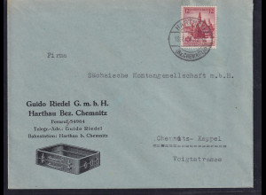 DR. Reklame-Brief, Guido Riedel GmbH, Harthau Bez, Chemnitz.