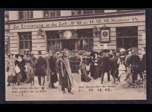 DR. Privat-Ganzsache, PP27 C 211/01, Zur Erinnerung an die Zeit, gestempelt.