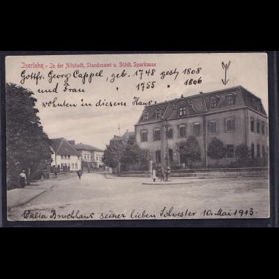 Ansichtskarten, Iserlohn, Standesamt und Städt. Sparkasse vom 1913