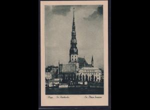 Ansichtskarten, Riga. St. Petrikirche ,nicht gelaufen.