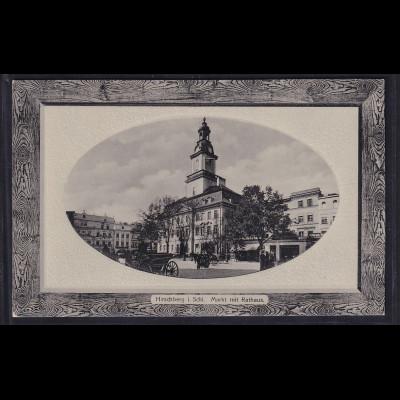 Ansichtskarten, Hirschberg i.Schl. Markt mit Rathaus ,nicht gelaufen.