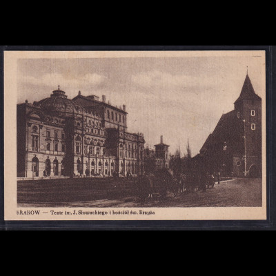 Ansichtskarten, Krakow - Teater im J.Slowackiego ,nicht gelaufen.