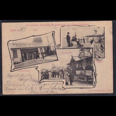Ansichtskarten, Internationale Ausstellung Feuerretungswesen vom 1901 in Berlin