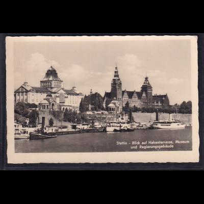Ansichtskarten,Stettin, Hakenterasse, Museum und Regierungsgebäude.