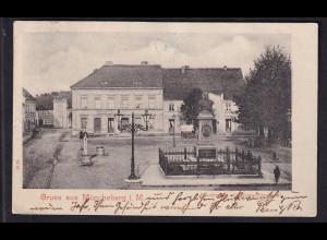 Ansichtskarten, Gruss aus Müncheberg, gelaufen.