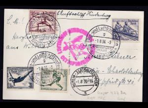 Zeppelin-Karte, Olympiade-Fahrt, Sieger 427 Ba