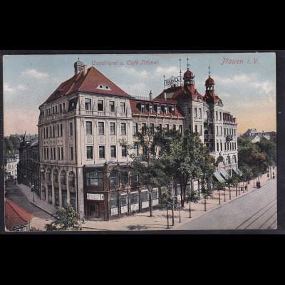 Ansichtskarten, Conditorei u. Cafe Trömel, Plauen, mit Porto Kontrolle-St.