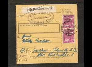SBZ, Mi.-Nr. 193 MeF auf Paketkarte.