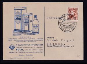 DR. Reklame-Karte, Pharmazeutische Präparate, F. Blumhoffer Nachfolger, Köln.