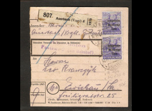 SBZ, Mi.-Nr. 194 MeF auf Paketkarte.