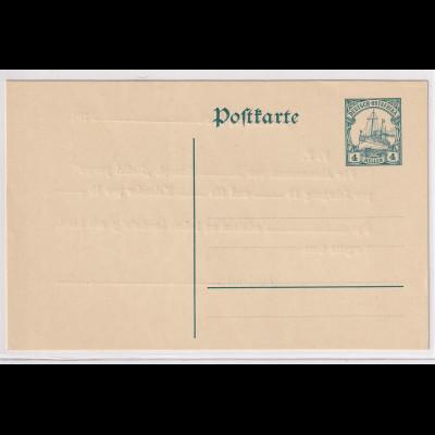 Deutsche Kolonie, Dt.-Ostafrika, Ganzsache Mi.-Nr. P23 mit Zudrück, ungebraucht