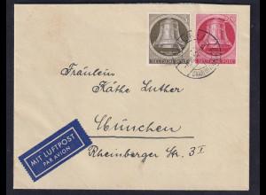 Berlin, Luftpost- Fernbrief mit Mi.F.. Mi.-Nr. 82,77