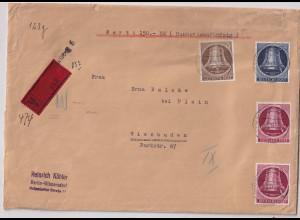 Berlin, Wert-Brief mit Mi.F.. Mi.-Nr. 85,86,101