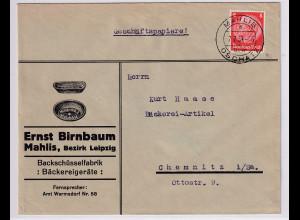 DR. Reklame-Brief, Bachschüsselfabrik, Ernst Birnbaum, Leipzig