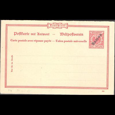 Deutsche Kolonie, Samoa, Ganzsache Mi.-Nr. P4, ungebraucht