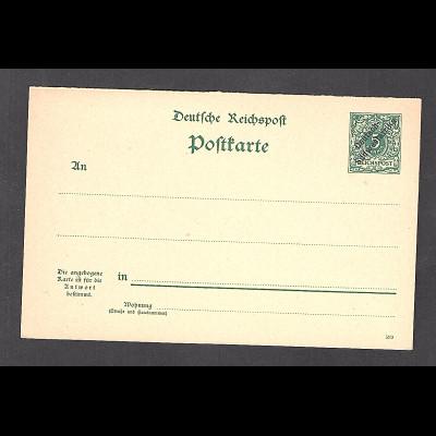 Deutsche Kolonie, Deutsch Südwestafrika,, Ganzsache Mi.-Nr. P11, ungebraucht