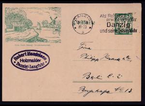 Danzig, Ganzsache Mi.-Nr. P 38 II, gestempelt.